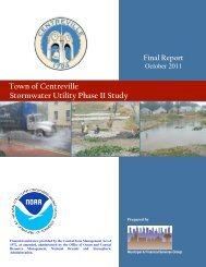 Town of Centreville Stormwater Utility Phase II Study