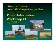 Comprehensive Plan 2030 - the Town of Clyman website