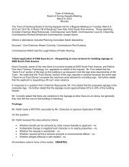 Town of Hamburg Board of Zoning Appeals Meeting March 6, 2012 ...