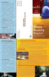 Water Quality Report - Town of North Andover