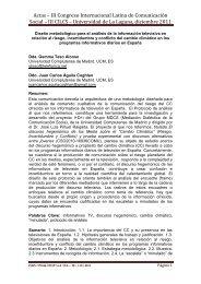 Diseño metodológico para el análisis de la información televisiva en ...