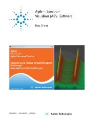 Agilent Spectrum Visualizer (ASV) Software
