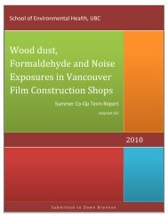 Wood dust, Formaldehyde and Noise Exposures in ... - Actsafe