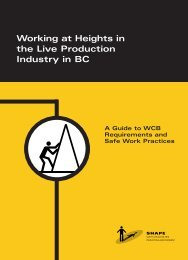 Working at Heights in the Live Production Industry in BC - Actsafe