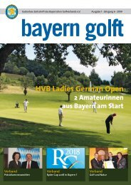 HVB Ladies German Open 2009 - Bayerischer Golfverband