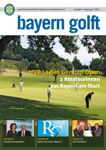 HVB Ladies German Open 2009 - Bayerischer Golfverband