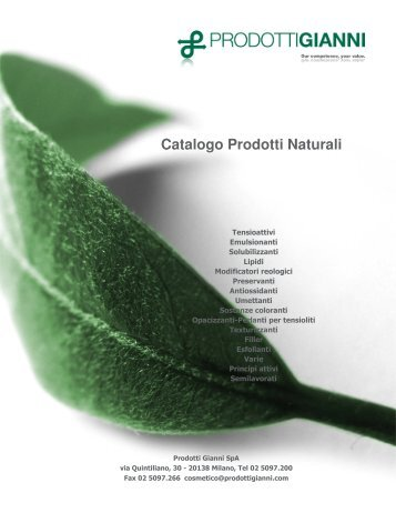 Catalogo Prodotti Naturali - Cosmesi.it