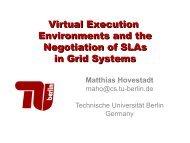 Virtual Execution Environments and the Negotiation of SLAs ... - DMTF