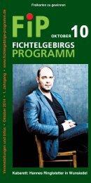 Fichtelgebirgs-Programm - Oktober 2014