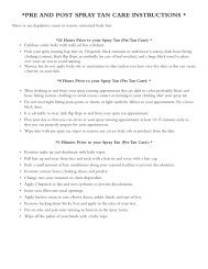 pre and post spray tan care instructions - Blue Dragonfly Hair Studio