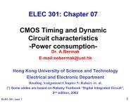 Chapter 07 CMOS Timing and Dynamic Circuit characteristics