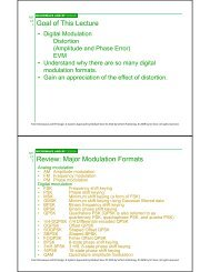 1 Goal of This Lecture 2 Review: Major Modulation Formats j
