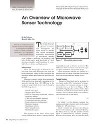 An Overview of Microwave Sensor Technology - High Frequency ...