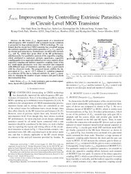 fmax Improvement by Controlling Extrinsic Parasitics in Circuit-Level ...