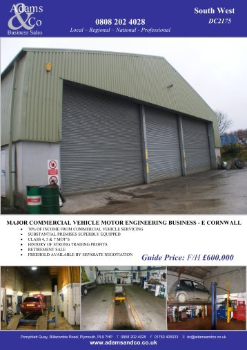 0808 202 4028 South West Guide Price: F/H £600,000 - Adams & Co