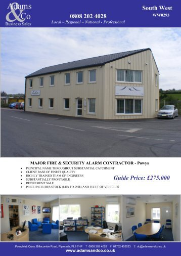 0808 202 4028 South West Guide Price: £275,000 - Adams & Co