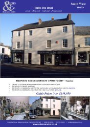 0808 202 4028 South West Guide Price: from £149,950 - Adams & Co