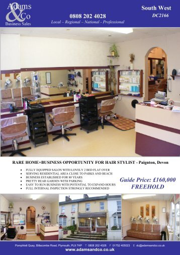 0808 202 4028 South West Guide Price: £170,000 ... - Adams & Co