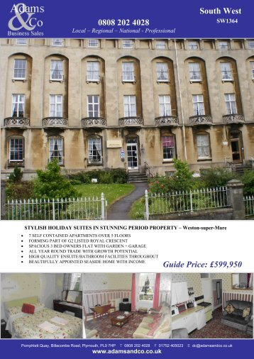 0808 202 4028 South West Guide Price: £599,950 - Adams & Co