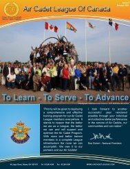 info - Air Cadet League of Canada