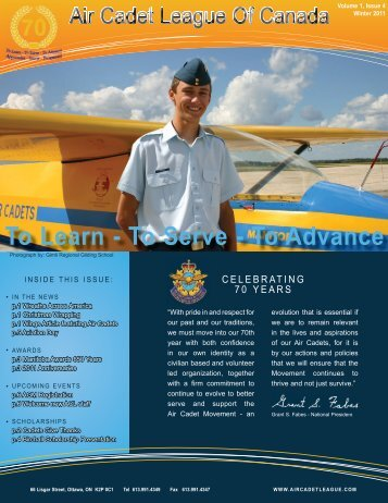 ACL Newsletter Winter 2011 English - Air Cadet League of Canada