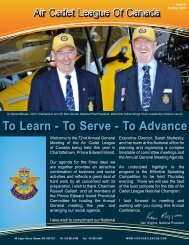 info - Air Cadet League of Canada
