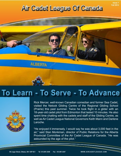 To Learn - To Serve - To Advance - Air Cadet League of Canada