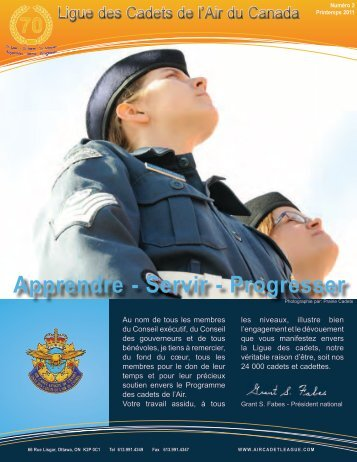 Pour en apprendre davantage - Air Cadet League of Canada