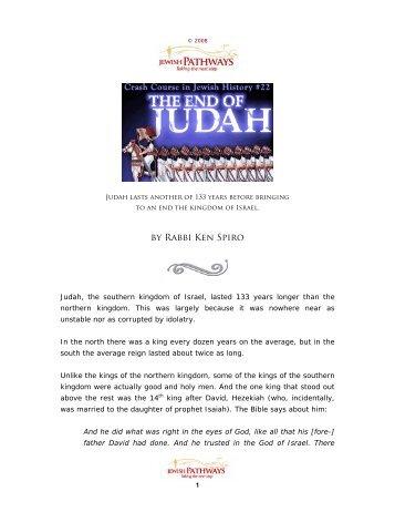 The End of Judah - JewishPathways.com