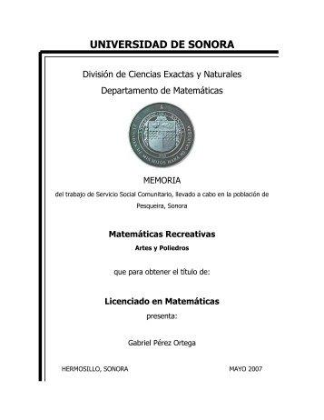 Licenciatura en Matemáticas - Universidad de Sonora