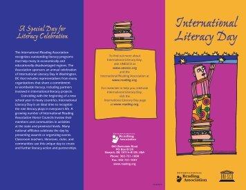 Celebration Ideas - International Reading Association