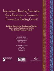 Building Capacity for Reading and Writing Based on the Reading ...
