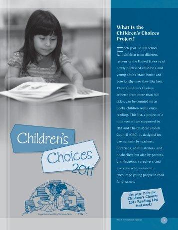 Children's Choices project - International Reading Association