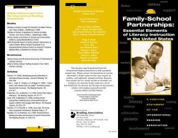 Partnerships: Family-School - International Reading Association