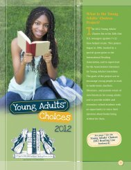 2012 Young Adults' Choices - International Reading Association