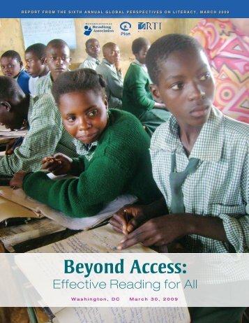 Beyond Access: - International Reading Association