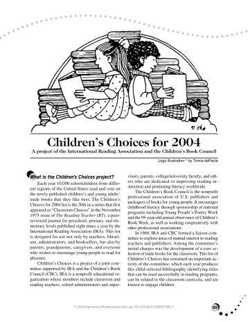 Children's Choices for 2004 - International Reading Association