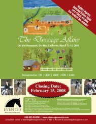 The Dressage Affaire - Keenan Productions & Events