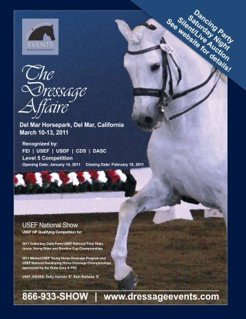 The Dressage Affaire 2011 Open Show Prize List