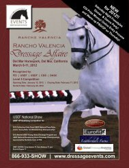 The Rancho Valencia Dressage Affaire 2012