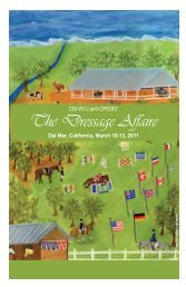 The Dressage Affaire - 2011 Show Program