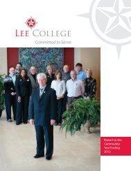 Annual Report - Lee College