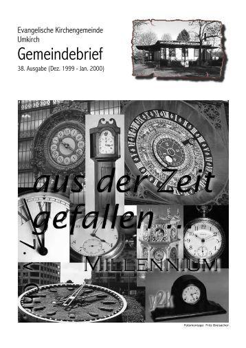 Januar 2000 - Evangelische  Kirchengemeinde Umkirch