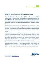 ENGEL baut Standort Schwertberg aus - Engel Austria