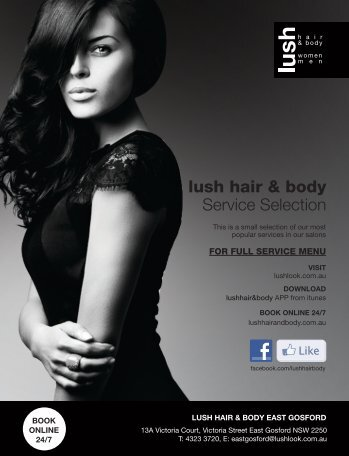 Pricelist (PDF) - Lush hair & body
