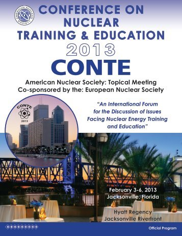 2013 Conte Official Program - American Nuclear Society