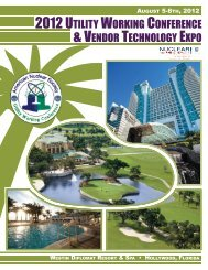 2012 utility working conference & vendor technology expo