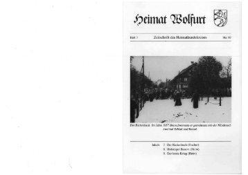 Heft 3 Zeitschrift des Heimatkundekreises Mai 89 Der Rickenbach ...