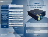 TEMPO 1D Brochure - Bossa Nova Technologies