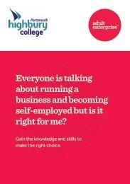 Adult Enterprise Course Booklet - Highbury College